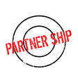 partner ship rubber stamp vector image vector image