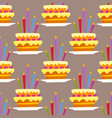 party cake celebration happy birthday surprise vector image vector image