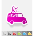 realistic design element news van vector image