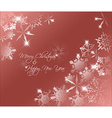 red abstract Christmas background vector image vector image