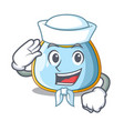 sailor character baby bib for feeding toddler vector image vector image