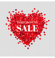 sale banner valentines day vector image