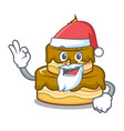 santa birthday cake mascot cartoon vector image vector image