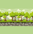seamless cartoon background for game design vector image vector image