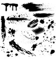 set black blood or ink splashes ink vector image