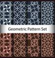 set geometric seamless pattern background vector image
