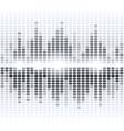 Shining grey digital equalizer on white background vector image