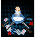 Sitting Alice vector image vector image
