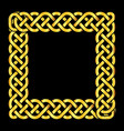 square golden celtic knots frame vector image vector image