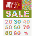 Summer sale template for flyers Set font of vector image vector image