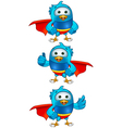 Super Blue Birds Set 1 vector image