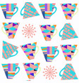 tea abstract seamless pattern design image cute vector image