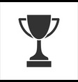 trophy sign icon for web and mobile vector image vector image