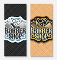 vertical banners for barber shop vector image