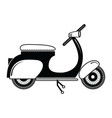 Vintage scooter type 2 in black and white vector image vector image