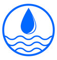 water drop and wave vector image vector image