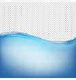 water wave with transparent background vector image