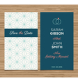 wedding card pattern green 01 vector image vector image