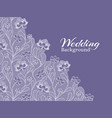 wedding floral background with lace pattern vector image