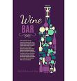 wine bar grape vector image vector image
