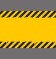 yellow background with black grunge hazard sign vector image