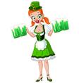 saint patrick girl vector image