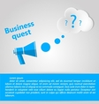 Flat for Business quest vector image