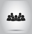 group of people icon on isolated background vector image
