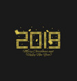 2019 golden numbers vector image
