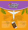 3d realistic travel and tour creative vector image vector image