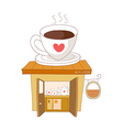 A view of coffee shop vector image vector image
