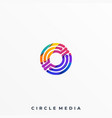 abstract circle design template vector image
