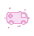 ambulance icon design vector image