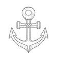 anchor hand drawn sketch vector image
