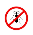ant warning sign no ants vector image