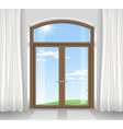 arched double doors vector image vector image