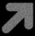 arrow up right halftone icon vector image