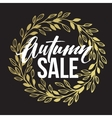 Autumn hand written lettering Golden black and vector image vector image