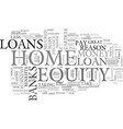 banks just love those home equity loans text word vector image vector image