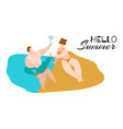 bodypositive couple fat woman and man on vector image