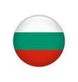 bulgaria flag on button vector image