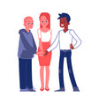 business people joining hands as a team vector image vector image