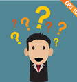 businessman with question marks - - EPS10 vector image vector image