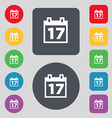 Calendar Date or event reminder icon sign A set of vector image vector image