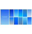 collection of blue sky gradients background vector image