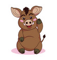 cute boars cartoon flat style vector image vector image