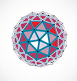 dimensional wireframe low poly object colorful vector image vector image