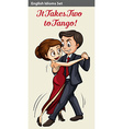 English idiom of two people dancing vector image