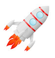 flying rocket colored cartoon drawing vector image