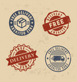 free delivery stamp set vector image